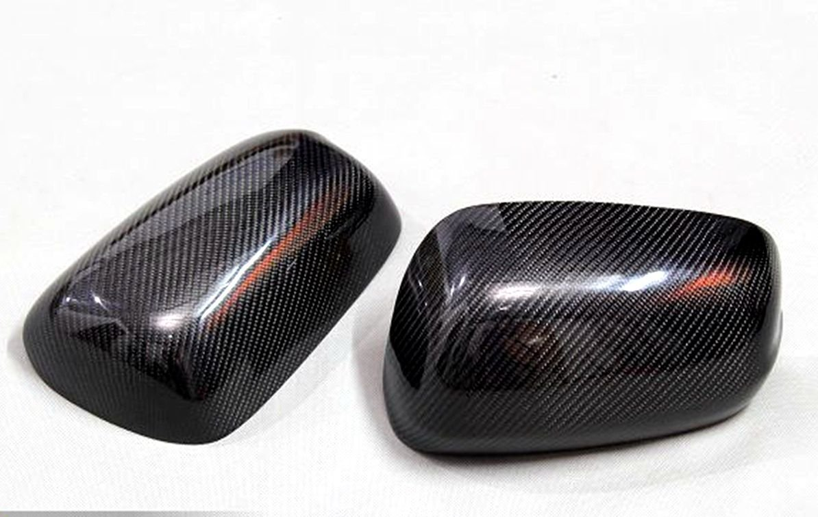 Carbon Fiber Mirror Covers For Honda Jazz Fit 2009-2013 No LED