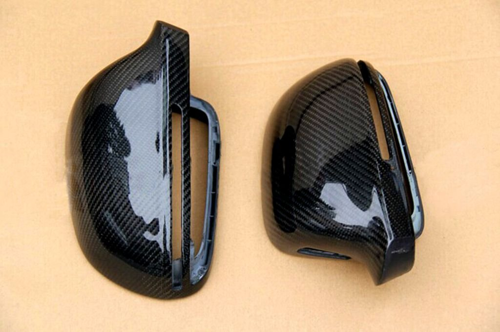 For Audi A4 B8 2008-2011 Carbon Fiber Mirror Covers Replacement