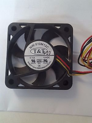 T&T MW-510M12C 12VDC 0.11A 3-Pin 40x10mm CPU Fan