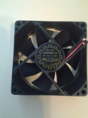 Yate Loon D80SM-12 DC 12V 0.14A M/F Molex Connector 4-Pin Case Fan