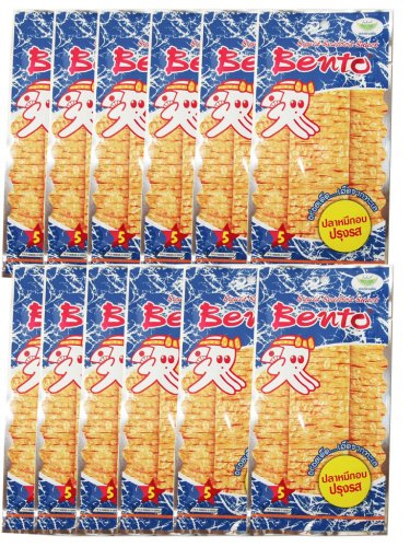 BENTO Seafood Snack 12 Pack X 6g Seasoned Squid Flavor Seafood Sweet Thai Food