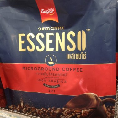 Super Coffee Essenso Microground Coffee Created with 100% Coffee Beans Arabica 3 in 1 22gx15s