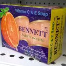 Vitamin C & E Bennett Natural Extracts Soap Handmade Product 130g.