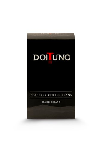 DoiTung Peaberry Coffee Beans Dark Roast 200g.