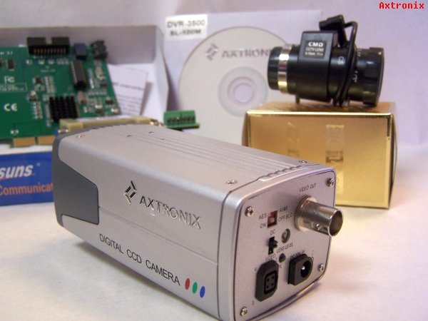 AXTRONIX   Zoom CCD Color Video Camera, PC DVR Card, RS232-RS485