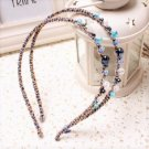Beautiful Stylish Multicolor Fashion Retro Blue Crystal Rhinestone Hair Band Headband