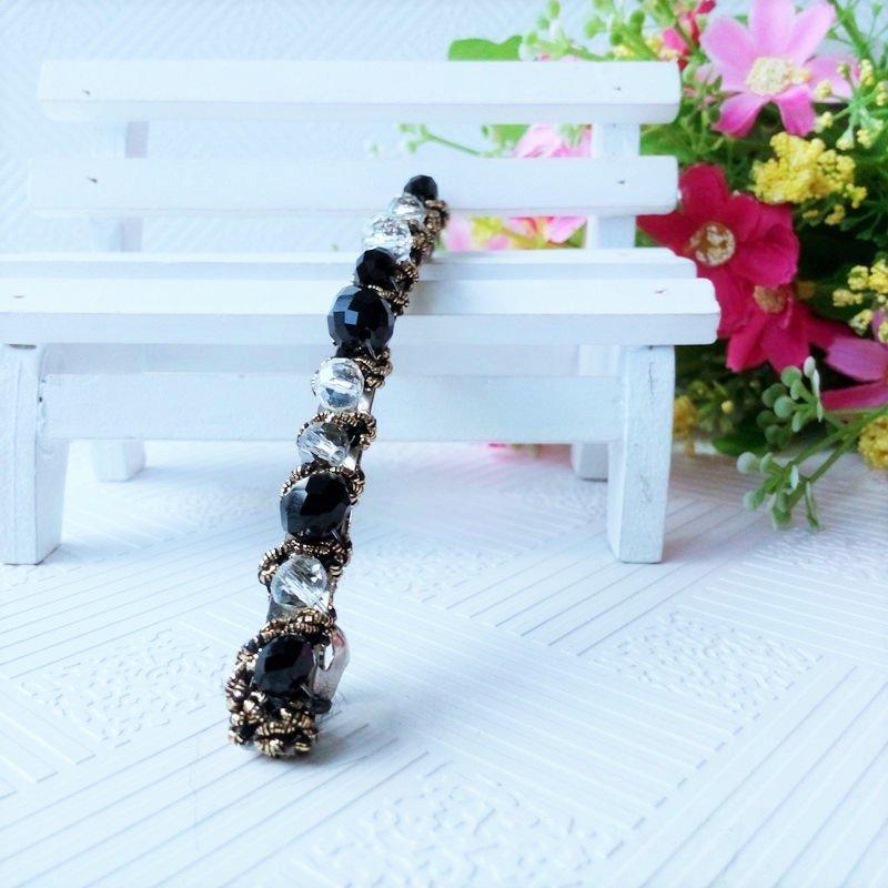 Beautiful Stylish Black Fashion Retro Crystal Rhinestone Barrette Hairpin Hair Clip