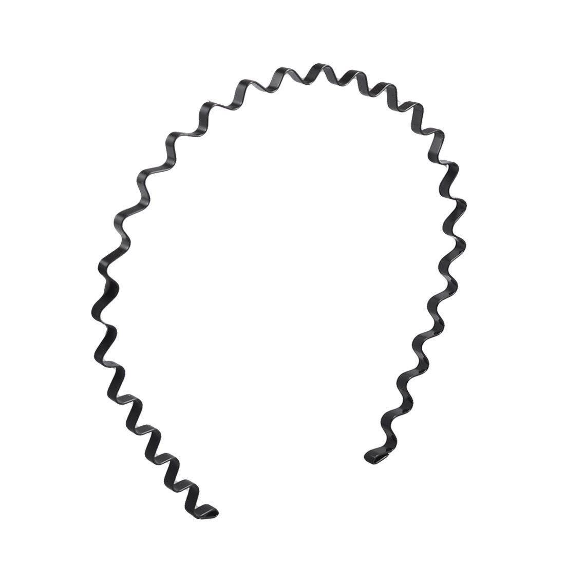 Black Metal Unisex Spiral Spring Wavy Hair Hoop Headband