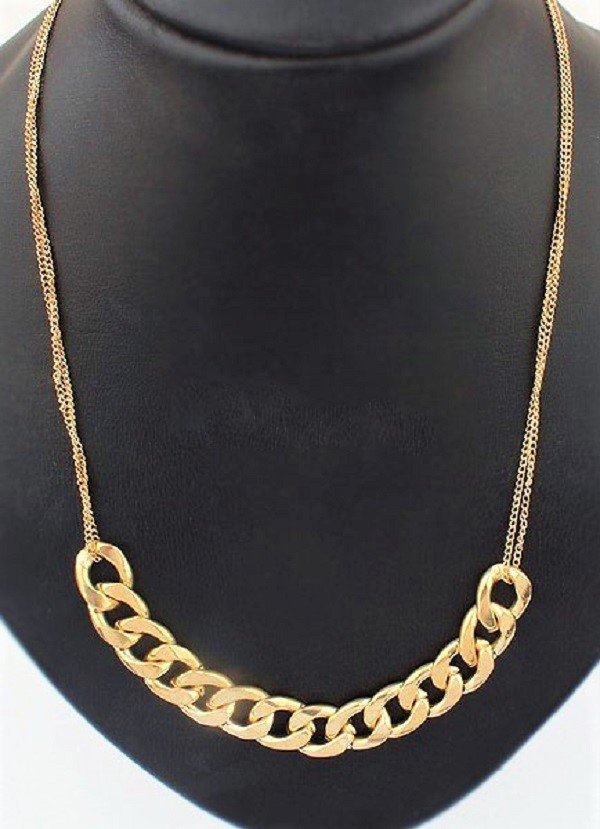 Elegant Thick Chunky Gold Plated Long Chain Necklace