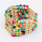 Multicolor Bohemian Multilayers Tassel Rice Beads Trendy Chic Luxury Style Bracelet