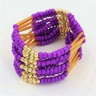 Purple Bohemian Multilayers Tassel Rice Beads Trendy Chic Luxury Style Bracelet
