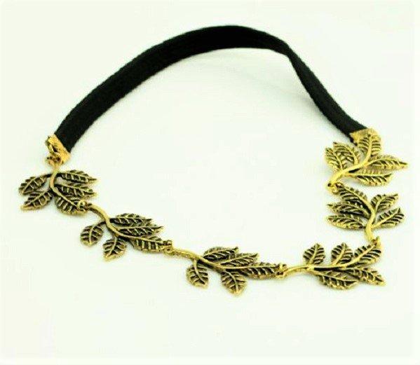 Elegant Greek Goddess Fashion Style Metal Antique Bronze Olive Leaf Headband