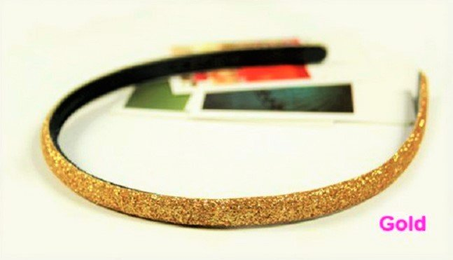Hot fashion Retro Gold Shimmering Shining Glitter Flashy Hair Headband