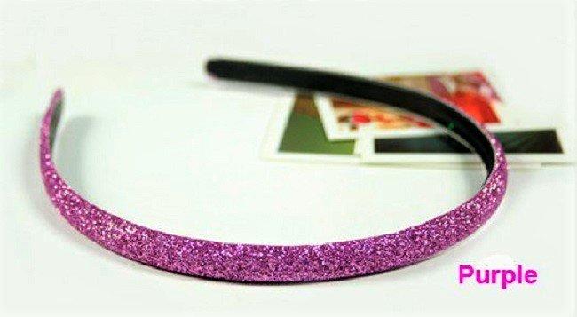 Hot fashion Retro Purple Shimmering Shining Glitter Flashy Hair Headband