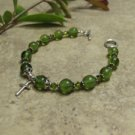 Prayer Bracelet  Standard Sterling Silver (Green)