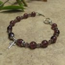 Prayer Bracelet Standard Sterling Silver (Purple)