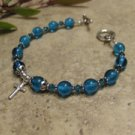 Prayer Bracelet Standard Sterling Silver (Blue)