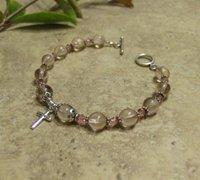 Prayer Bracelet Standard Sterling Silver (Pink)