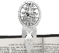 Bookmark (Silvertone Lord's Prayer) 1 in STOCK