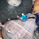Bangle bracelet w/ blue topaz