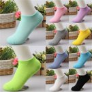 Low Cut 10 Pairs Lots Ladies Boat Short Cotton Women Ankle Socks Gift Pink Blue