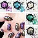 3D Nail Glitter Sequins Stickers Tips  Gorgeous Nail Art Manicure Decoration FT