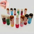 Unique Fun Dolls Shape Lip Balm Lipstick Pure Natural Moisturized Lip Cream FT89