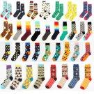 1Pair Casual Cotton Socks Design Multi-Color Athletic Cool Men's Women's Socks