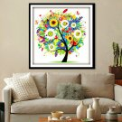 1X Counted Cross Stitch Kit Embroidery Set Colorful Tree 14ct 45*45cm Home Decor