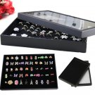 1X 100 Holes Ring Earring Jewellery Display Storage Box Tray Show Case Organiser