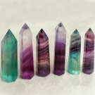 50-70MM Natural Fluorite Quartz Crystal Wand Point Healing Stone 50g FT
