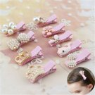 Cute Baby Girl Pearl Crown Flower Hair Clip Hair Accessories Princess Hairpins