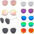 Men Women Fashion Oversized Round Sunglasses Vintage Retro Mirror Glasses FT