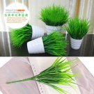 Office Home Garden Decor Artificia 7 FORK Plastic Green Grass Plant Flower TR