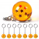Dragon Ball Z Fashion Cosplay Crystal Ball 7 Stars Keychain Keyring Pendant Gift