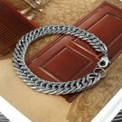 Punk Men Stainless Steel Silver Chain Link Bracelet Wristband Bangle Jewelry TR