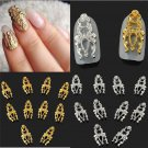 10PCS Sweet Cool Elegant 3D Hollow Full Cover Nail Art Alloy Decoration FT67 New