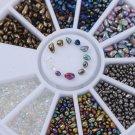 DIY Chameleon Irregular Beads 3D Nail Art Rhinestones Decoration Wheel Manicure