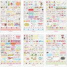 6 Sheets Fun Word Expression Diary Album Sticker Calendar Card Scrapbooking FT79