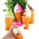Soft Squeeze Squishy Ice Cream Slow Rising Stretch Phone Strap Relieve Vent Toy