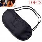 10PCS Lots Eye Mask Shade Cover Blindfold Night Sleeping Black Fashion FT59