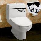 Stylish Cool Funny Creative Toilet Hello Bathroom Decal Vinyl Sticker