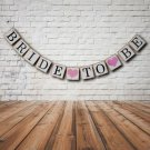 Bride To Be Bunting Banner Garland Hen DO Bridal Shower Wedding Party Decor FT