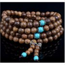 Cool Sandalwood Buddhist Buddha Meditation Prayer Bead Mala Bracelet Necklace FT