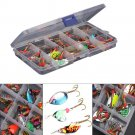30pcs/set Colorful Trout Spoon Metal Fishing Lures Spinner Baits Bass Tackle FT