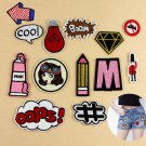13PCS Lot Embroidery Sew On Patch Badge Bag Hat Jeans Dress Applique Craft DIY