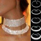 Luxury Lady Crystal Rhinestone Collar Choker Necklace Wedding Birthday Jewelry