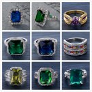 Fashion Charm Women Wedding PARTY Gold Plated Ring Jewelry Size7-10 FT