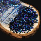 2000PCS 3D 2mm Round AB Rhinestone Acrylic DIY Nail Art Glitter Crystal Decor FT