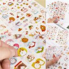 6PCS Lot Kawaii Rabbit Girl Color Decor Stickers DIY Diary Scrapbook Photo Craft